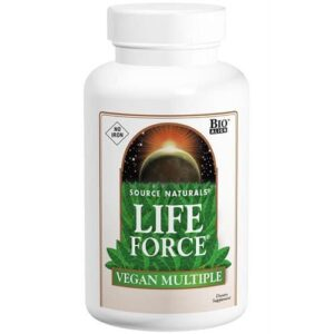 Life Force Vegan Multiple No Iron, 60 Tablets, Source Naturals
