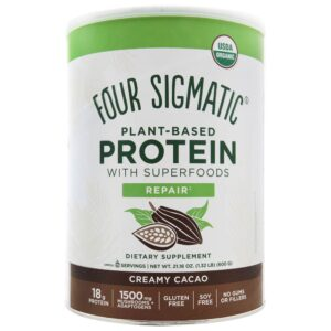 Four Sigmatic - Organic Plant-Based Protein with SuperFoods Creamy Cacao - 21.16 oz.