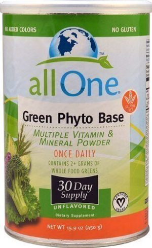 All One Nutritech Green Phyto Base Multiple Vitamin and Mineral Powder 15.9 oz