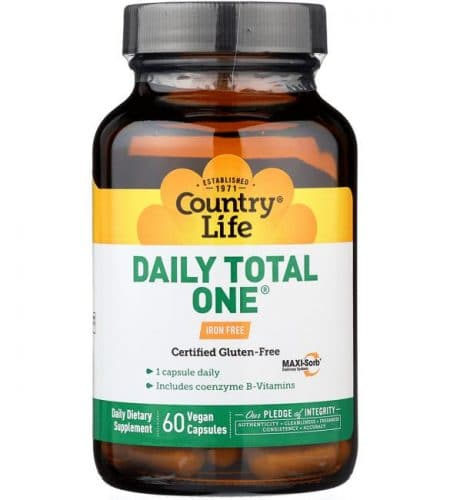 Country-Life-Daily-Total-One-Iron-Free-60-Vegan-Caps-Multivitamins